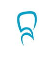 abstract dental logo on white background vector image