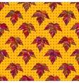 Autumn seamless leaf pattern 9 vector image