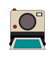 color image instant photo camera vector image