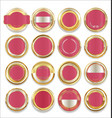 empty gold silver and pink labels collection vector image