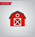 isolated storage flat icon warehouse vector image