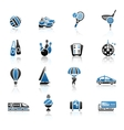 recreation vacation travel icons set vector image