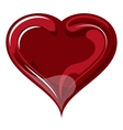 Red heart on valentines day vector image