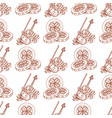 seamless pattern with violins and three golden vector image