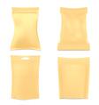 Set of Golden Foil Packaging vector image