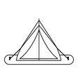 Tent camping related icon image vector image
