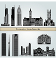 Toronto landmarks and monuments vector image