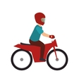 man biker extreme sport vector image