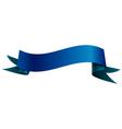 Realistic shiny blue ribbon isolated on white vector image