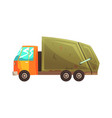 garbage truck waste recycling and utilization vector image