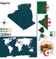 Algeria map vector image vector image