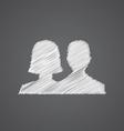 male female sketch logo doodle icon vector image