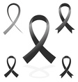 black sign ribbon cancer symbol vector image