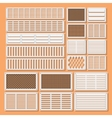 horizontal ventilation shutters vector image