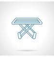 Folding drying rack flat line icon vector image