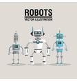 Robot set design Technology concept humanoid vector image