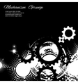 Abstract grunge background gears vector image