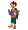 Boy traveller vector image