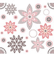 decorative pattern with elegant floral elements vector image