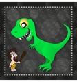Dinosaur prehistoric age vector image