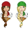 Pirate girls vector image