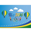rio 2016 games balloons vector image