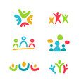 social relationship logo and icon set colorful vector image