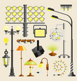 street outdoor and home lamps light electric vector image