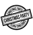 Christmas Party rubber stamp vector image