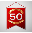 Red pennant with inscription Fifty Years vector image