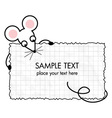 cartoon mouse with a frame vector image