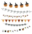 Halloween bunting and garland vector image vector image