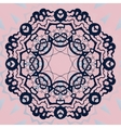 Ornate mandala flower Stylized ornament on pink vector image
