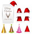 Santa cap and party cap set vector image