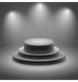 Black empty illuminated podium vector image