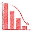 Chart sales fall vector image