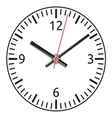 clock face - easy change time vector image