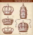Crown set 01 vector image