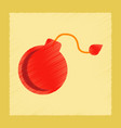 flat shading style icon dangerous bomb vector image