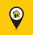 Map pointer house icon vector image