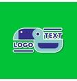 paper sticker on stylish background bird logo vector image