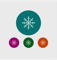 snowflake icon simple vector image