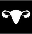 uterus the white color icon vector image