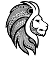 Zentangle stylized tattoo profile lion head vector image