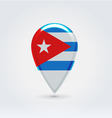 Cuban icon point for map vector