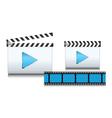 clapboard icon vector image