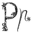 letter P p vector image vector image