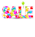 Sale Title with Colorful Balloons Isolated on vector image vector image