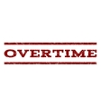 Overtime Watermark Stamp vector image