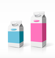 Colorful Milk box packaging vector image vector image